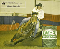 Rusty Rae Quam and JL Sabina at the South Country Barrel Futurity